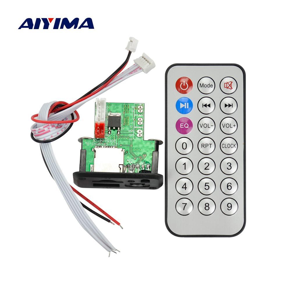 Cheap 3 Player AIYIMA Mini 12V MP3 Audio Decoder Board Lossless Decoding MP3 Player Stereo Two-channel Audio Output Support TF Card U Disk