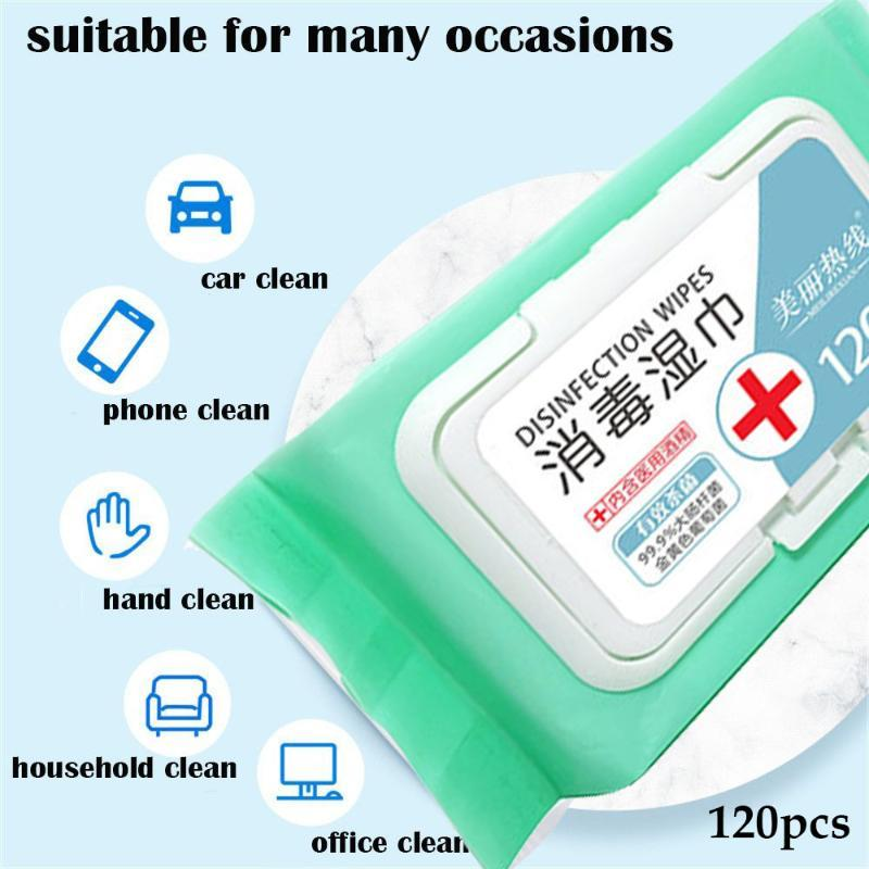Disposable Skin Cleaning Wipes Alcohol Wet Wipe Non-woven Sanitized Cotton Alcohol Pads Wash Hands Baby Wipes Home Supplies