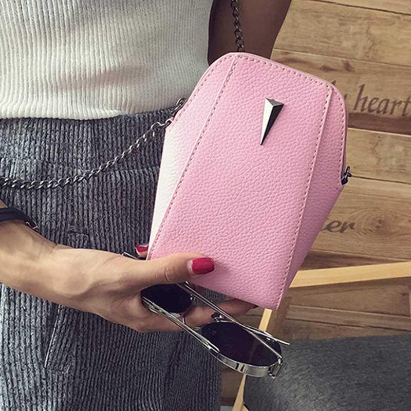Vintage Solid Telefono Mini borsa a spalla signore chiaro portafoglio borsa e borse di personalità di frizione di sera Borse a mano