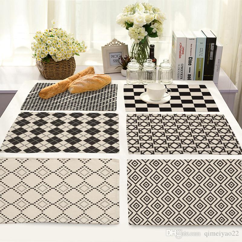 High Quality Abstract Geometric Printing Mats Table Napkin for Bar Placemat Kitchen Decoration Dining Accessories