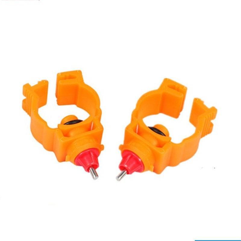 Tavuk Kullanımı Meme Tipi Su Çeşme Otomatik Sular Dolum Bahar Klip Su Kase Plastik Aşınmaya Dayanıklı Sarı Renk 0 35lz J1