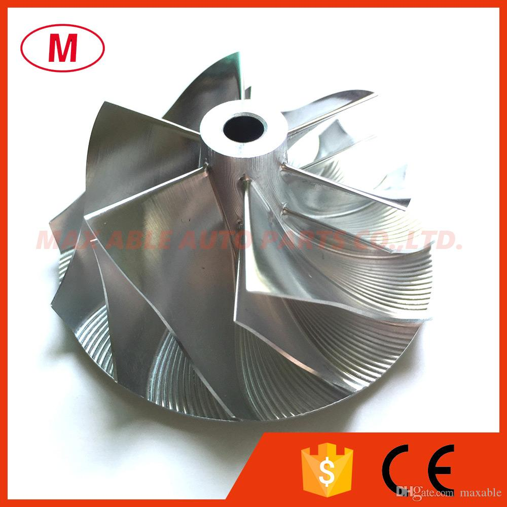 TD04HL 49189-00016 16T 43.43 / 56.02mm 6 + 6 블레이드 포워드 터보 빌렛 컴프레서 휠 / 알루미늄 2618 / 볼보 용 밀링 컴프레서 휠