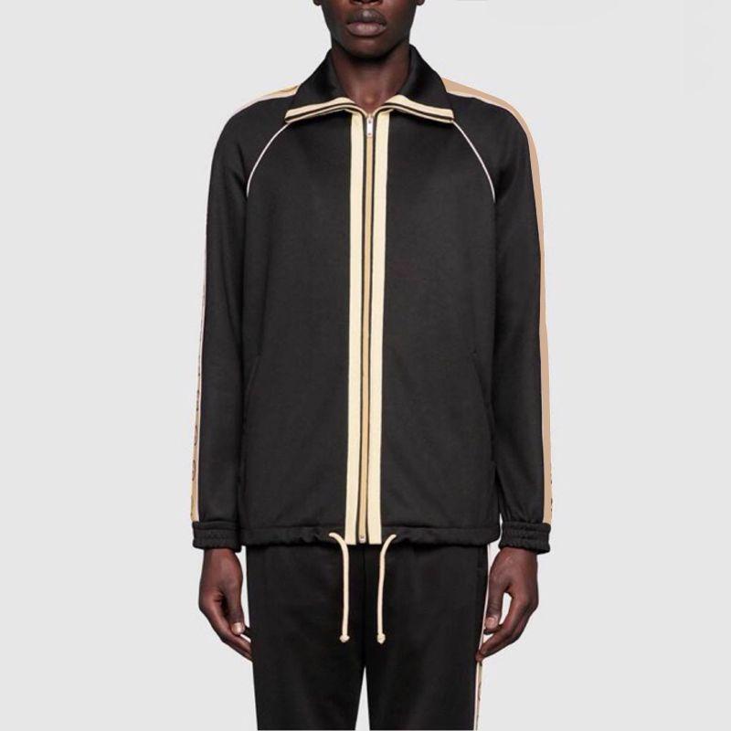 20SS Made in reflexo ribbon Jacket Pants Itália Noite Set Homens Mulheres Zipper Outwear Jacket Pant Suit fitness sport wear Treino HFYMTZ034