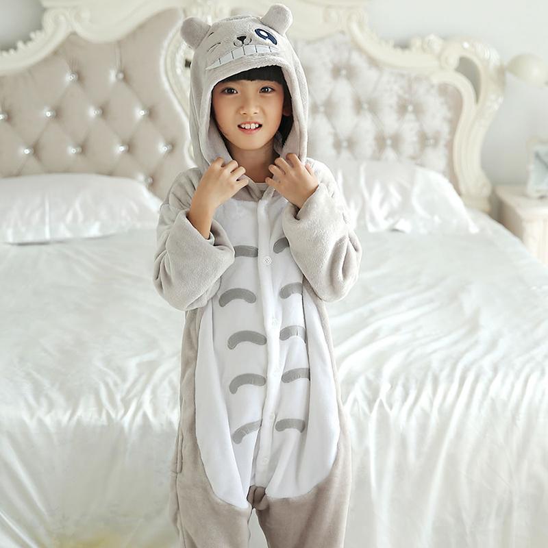 Kigurumi Children Cartoon Cat Pajamas Girls Boys Kids Costume Sleepwear Jumpsuit Children's Anime Onesie Animal4 6 8 10 12 Year J190520