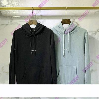 2019 2019 Best Quality Fashion Autumn Designer Brand Mens Paris Color Broken Letter Print Hoodies Pullover Hooded Cotton Casual Sweatshirt From