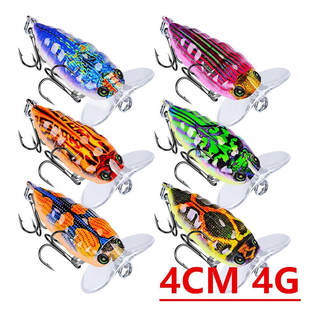 1pcs 6 Color 4cm 4g Cicada Fishing Hooks Fishhooks 8# Hook Hard Baits & Lures Pesca Fishing Tackle Accessories B-065