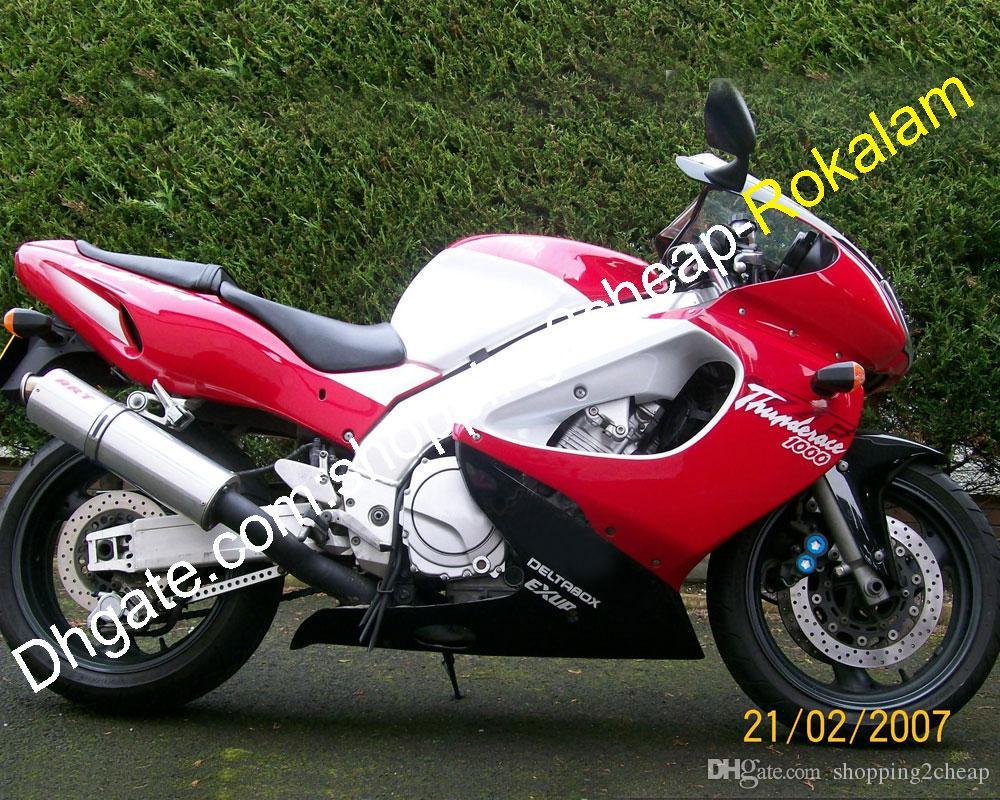 Kit de motocicleta para Yamaha Thunderace YZF1000 YZF1000R 1997 1998 1999 2000 2001 2002 2003 2004 2005 2006 2007 Negro Rojo Blanco Conjunto de carenado