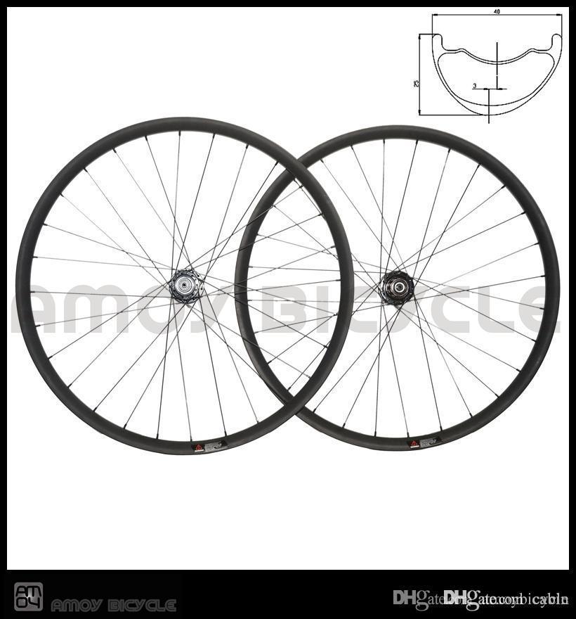 amoy Offset MTB carbon wheelset 29er hookless carbon wheels 40W * 25D XC MTB bike wheels hand mountain wheelset