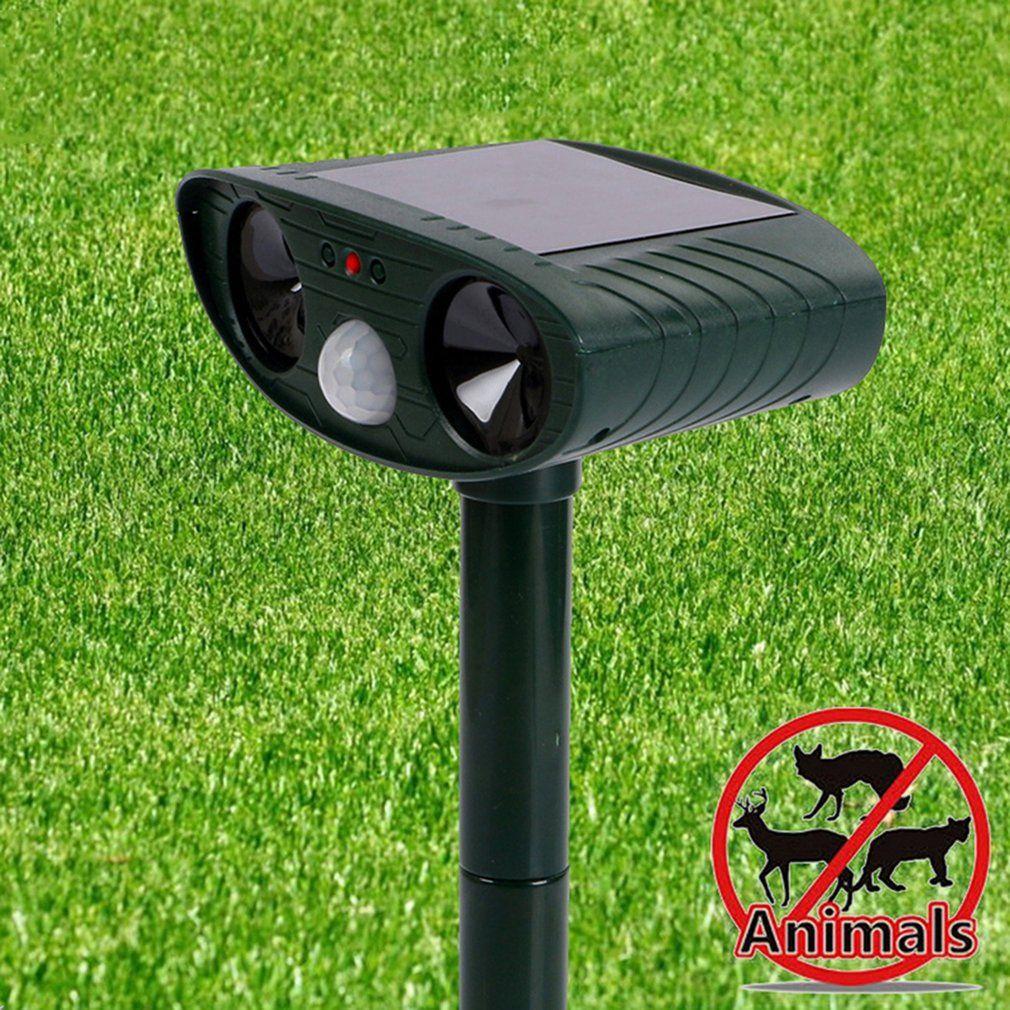 Ultrasons Cat Repeller antiparasite Fox Dog Dissuasion Chaser Répulsif écologique énergie solaire Vente animale Jardin Repeller