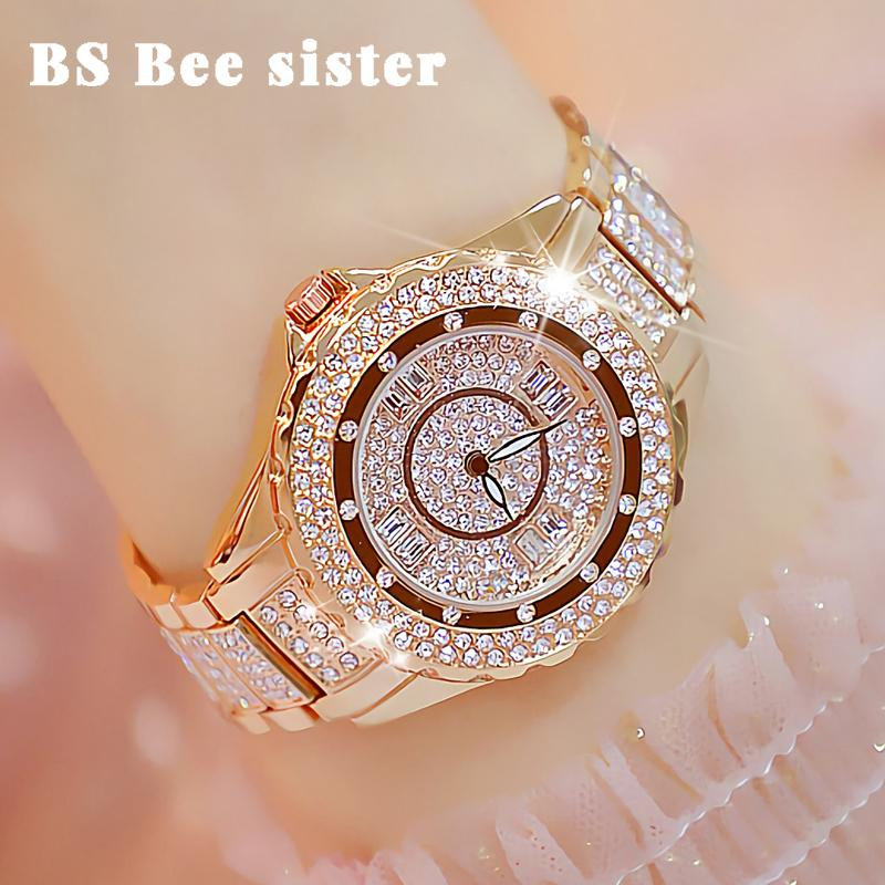 Хрустальные Женщины часы дизайнер бренда роскошный алмаз розового золота Женщина Часы стильные элегантные дамы наручные часы Montre Femme 2019 SH190929
