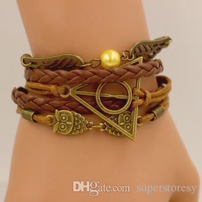 2020 neue heißen Verkaufs-Armband Owl Artifact Harry Potter-Engels-Flügel-Armband Mode-wilder Armband-Qualitäts