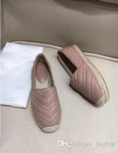 venta caliente hecha a mano de las mujeres Bajo-Top Alpargatas Pescador zapatos de lujo de los holgazanes suela de goma plana Slip-On zapatos de vestir 35-40