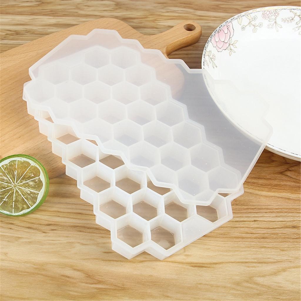Nido de abeja cubo de hielo del silicón de la bandeja del cubo de hielo del molde del fabricante con cóctel tapas fiesta de helados Para Bebida fría Contenedores de Almacenamiento #YJ