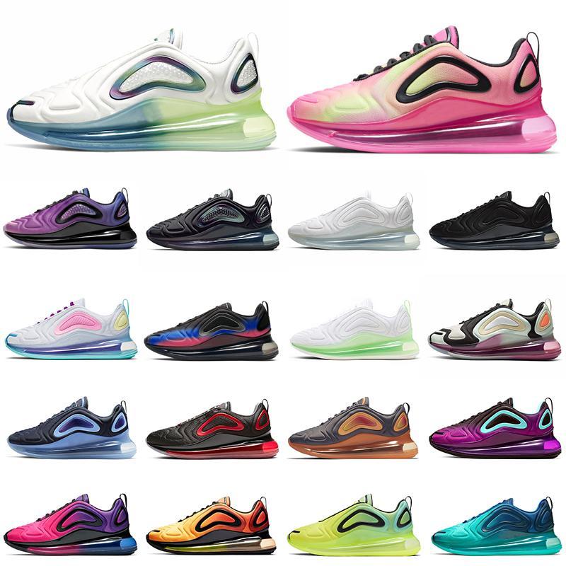 Nike Air Max 720 Tie-Dye BETRUE Mulheres Homens Tênis de Corrida NIGHTSHADE Obsidian Neon Espírito Teal Carbono Cinza Espírito Teal Mens Formadores Tênis Esportes 36-45
