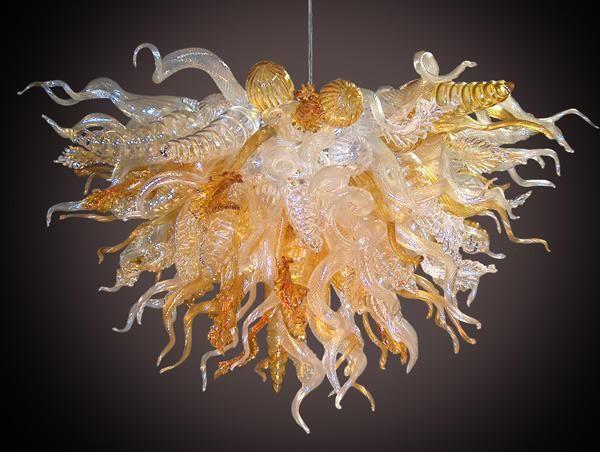 100٪ الفم في مهب CE UL البورسليكات زجاج مورانو كيلي دايل الفن الشعبي الإضاءة الإيطالية قلادة الأنوار