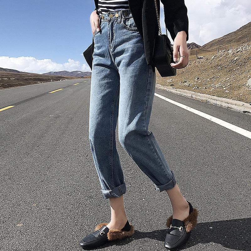 2020 Frühlings-Sommer-Freund Harem-Denim-Hosen Mode-Frauen-Taille Weiblich Herbst Mom Jeans Pantalones Mujer Plus Size XL