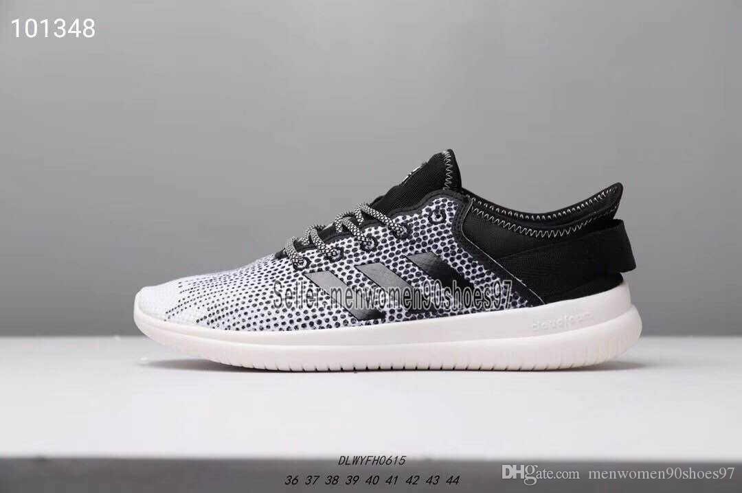 Con Una Caja 2019 Designer Adidas Boost Men Women Shoes Barato NEO Cloudfoam PURE Casual Zapatos Para Correr Para Pareja Chassures Negro Gris Rosa