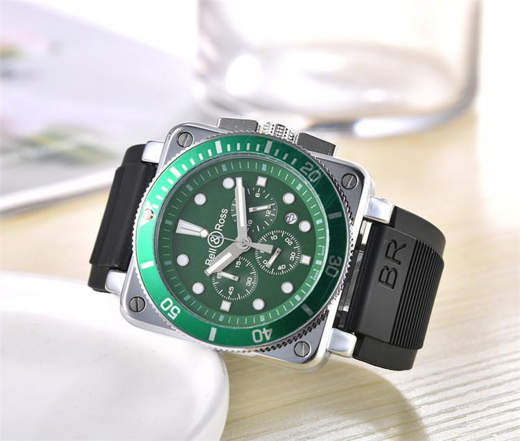 Yeni Kuvars saati erkek BR çan Ross kol saati brd03 saatler paslanmaz çelik seyretmek