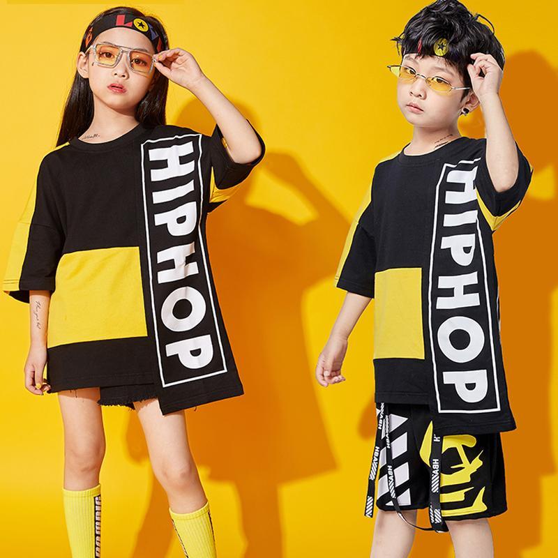 Kinder Hip Hop Dance Kostüme Jungen und Mädchen Jazz Dance Kleidung Kinder Performance Street Stage Kostüm Anzug Wear BL1270