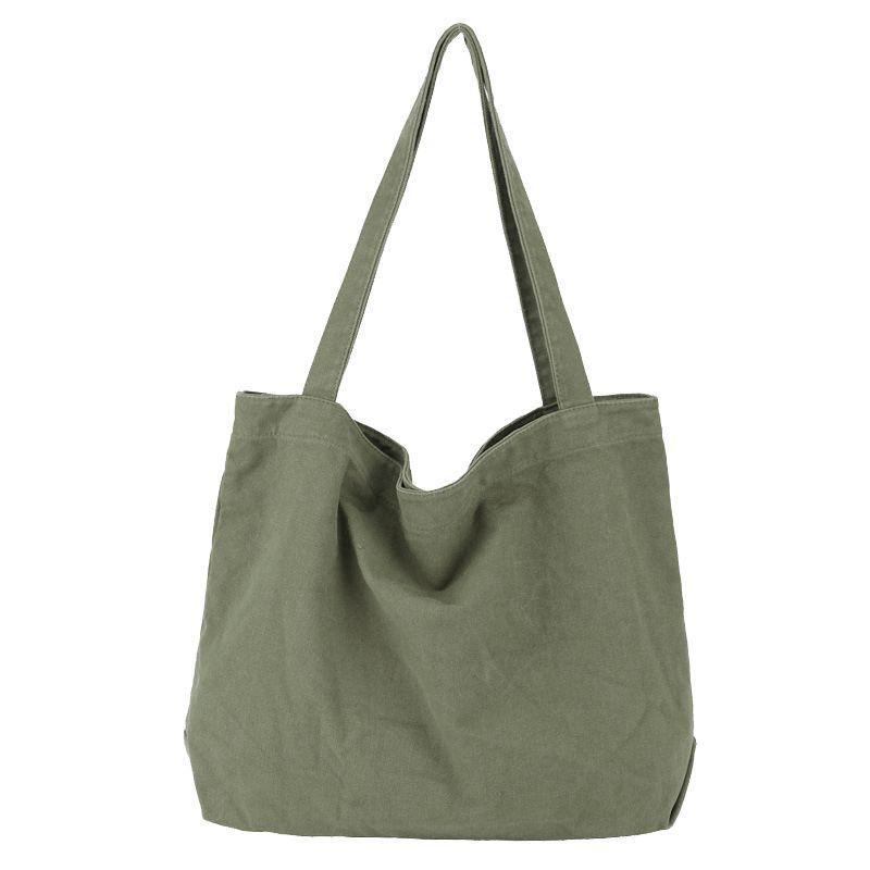 Холст Сумочка Simple Мужской Крупнотоннажной хлопка Tote Bag Женской многоразовая хозяйственная сумка