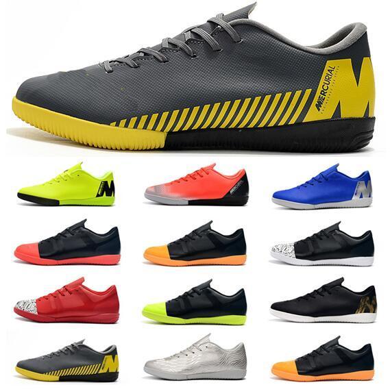 2019 Cheapest Mens Soccer Cleats Ronaldo Neymar Vapors X 12 Club IC Men Soccer Shoes Indoor Football Boots Tacos de futbol