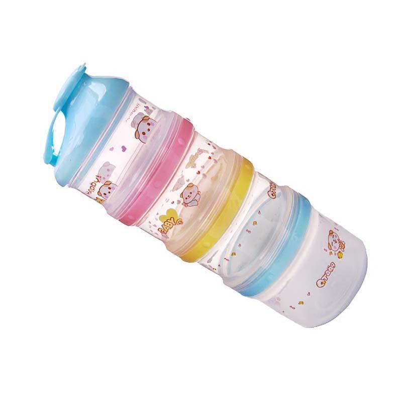 4-Schicht-bewegliches Baby-Milchpulver Container Baby-Snack Süßigkeiten Container Food Storage Box Praktisch für Säugling Verwendung im Freien