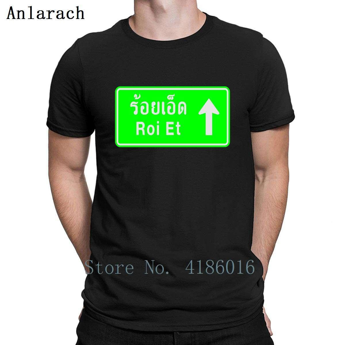Roi Et Thailand Highway Road Traffic Sign T Shirt Humor Summer Family Size S-5xl Fit Cotton Print Solid Color Shirt