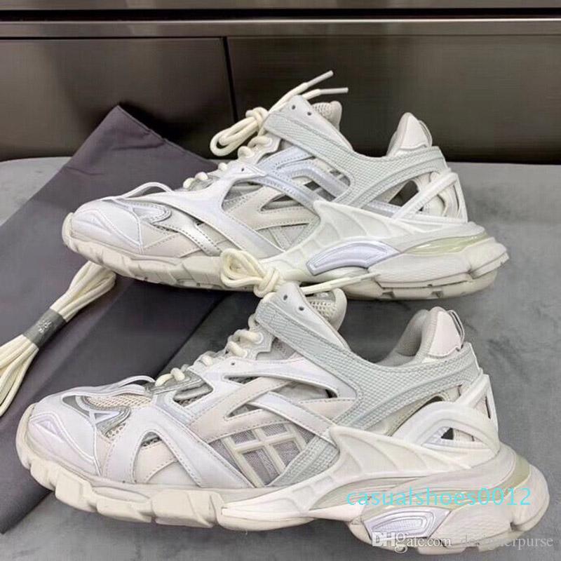 Nouvelle haute qualité Triple S 2.0 sneakers femme shoesTRACK.2 FORMATEURS Hommes de luxe de piste Formateurs de c12 de chaussures hommes