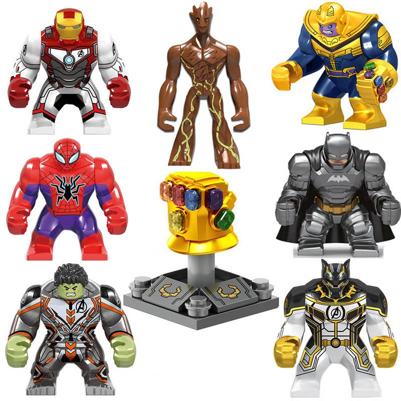 Super Hero Action Figure Avengers Infinity Gauntlet Thanos Energy Stone Gloves Iron Man Hulk Black Pather Batman Spider Man Building Block