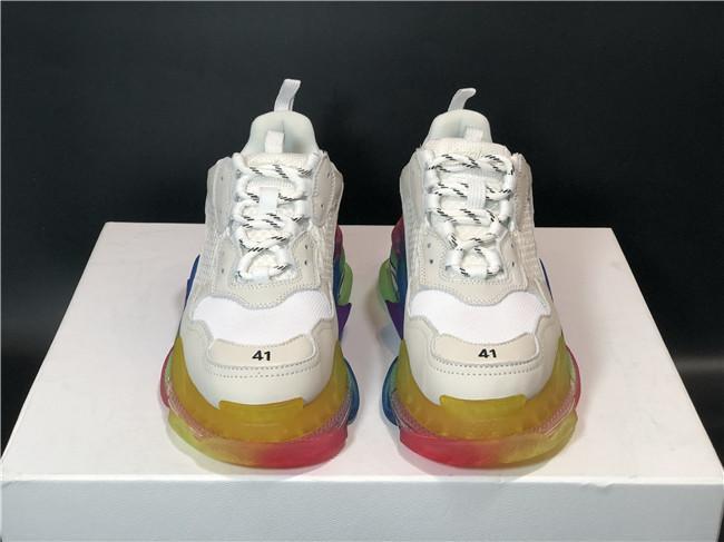 qualità della moda Designer Triple s Casual Scarpe Verde Triple S Sneaker donne del cuoio Low Top Lace-Up pattini piani casuali Cancella Sole