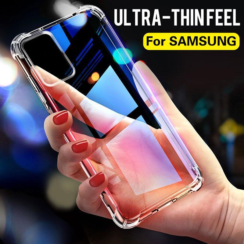 A prueba de golpes Caso anti-caída para Samsung Galaxy S10 S9 S8 S20 Plus Ultre casos de silicona de teléfono en el Samsung S20 Nota 8 9 10 Contraportada