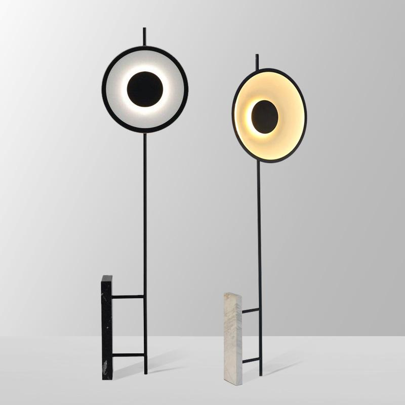 moderne kreative Marmorböden Lampen Wohnzimmer Schlafzimmer Nacht Modell Raumboden Licht Kunst Wohnkultur Beleuchtung Luminaria