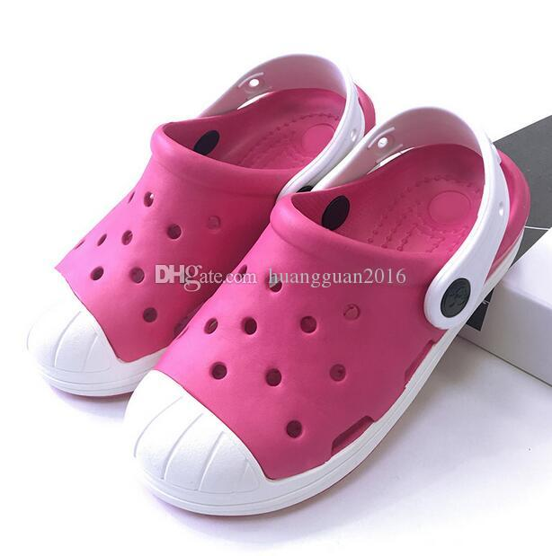 Summer Kids Toddlers Boys Hole Slip on Shoes Comfort Beach Slippers Breathable