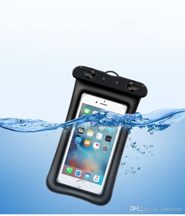 Floatable للماء الهاتف الحقيبة مصلحة المياه برهان الهاتف الخليوي حالة الهاتف واضح حقيبة جافة لفون XS ماكس XR XR X 8 7 Plus Samsung Galaxy