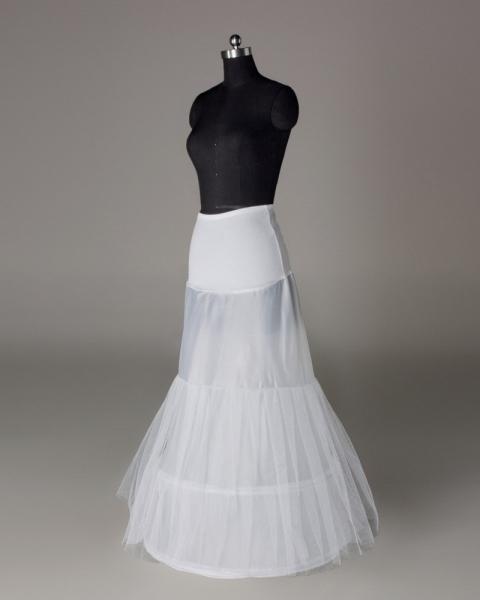 Fishplate Mermaid Petticoats Underskirt Bridal Accessories Crinoline Slip For Wedding Dresses White