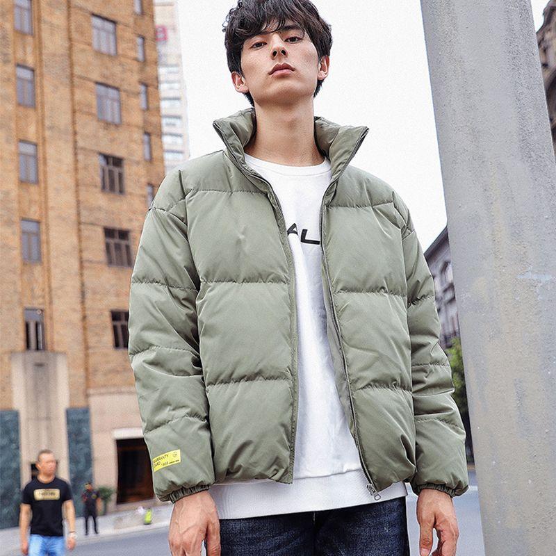 트렌드 겨울 다운 재킷 남성 스탠드 칼라 빵 코트 패션 캐주얼 자켓 남성 의류 2019 Doudoune 옴므 JK112703