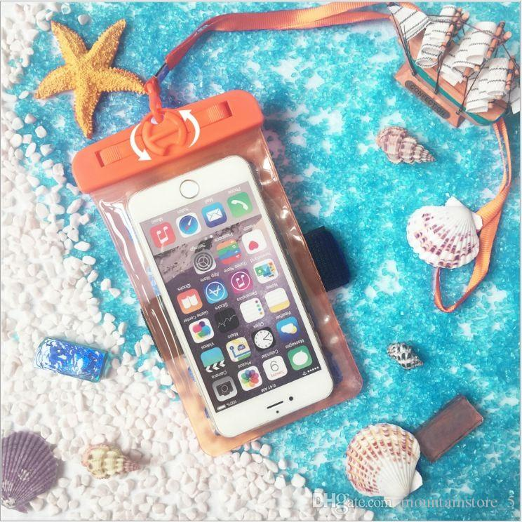 Armband Waterproof Mobile Phone Case For iPhone 7 6 Plus Samsung S9 Clear PVC Sealed Underwater Cell Smart Phone Dry Pouch Cover (Retail)