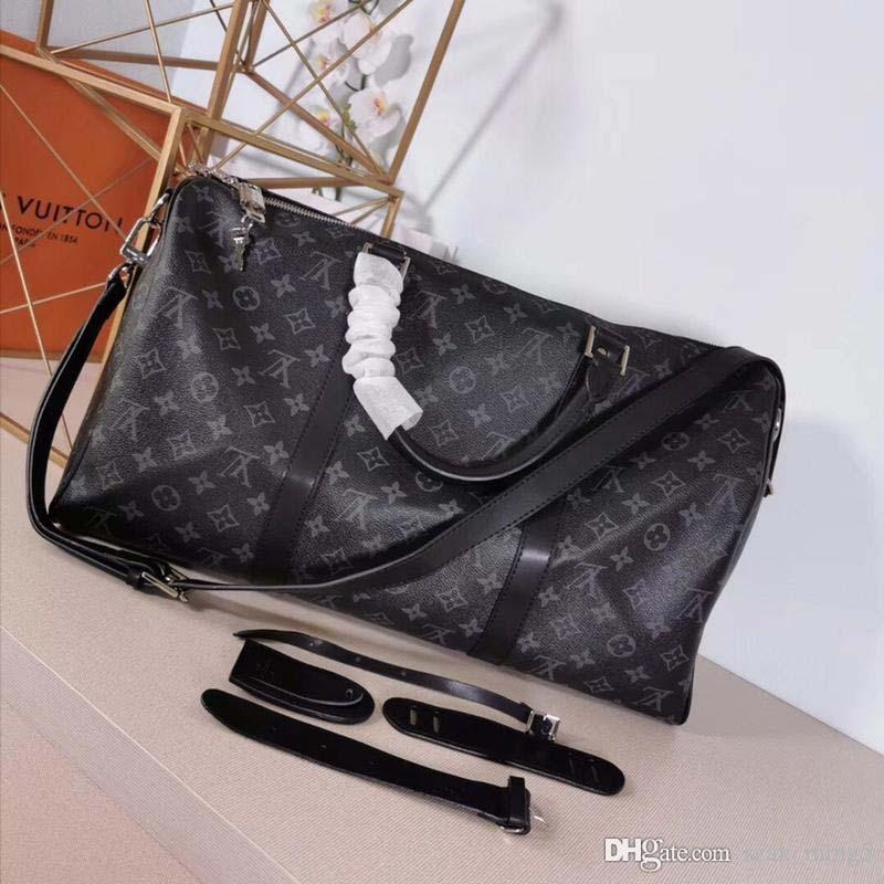 Nuova borsa di lusso della moda Travel bag tote bag di lusso Grande capacità di produzione in pelle e tela moda stampa con serratura M41418 A11 Keepall