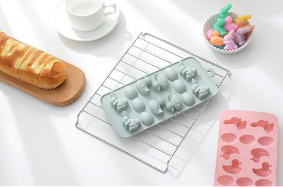Duckling egg silica gel chocolate mold ice rappet sugar mold cartoon shape pudding baking mold