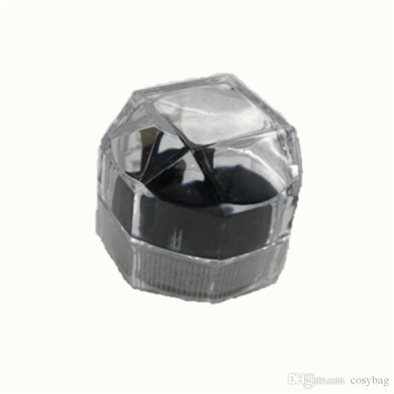 Cajas de joyas de plástico para anillo Pendiente Caja de visualización Compromiso Joyas de boda Estuches de embalaje Joyería Organizador