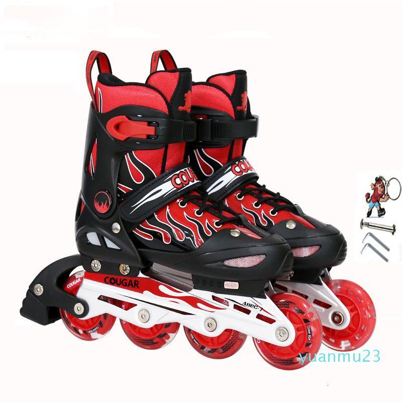 Hot Vente de haute qualité patin à roulettes Patins réglable Full flash rouleau enfants adultes débutants Inline Garçon Fille