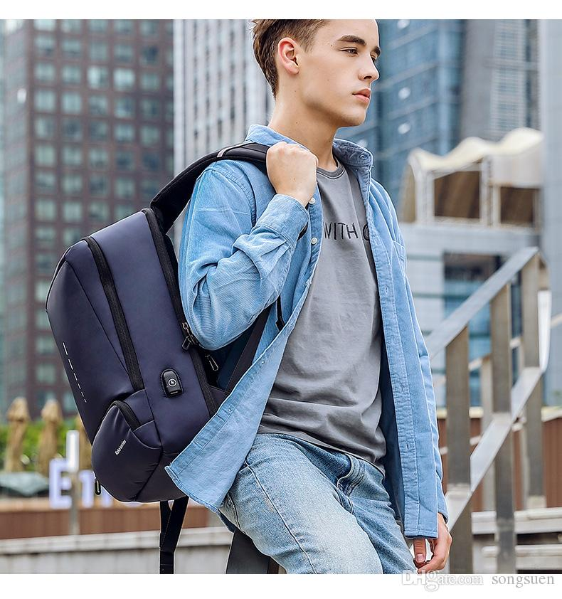 Mochila USB 2018 KAKA Moda 15.6 pulgadas mochila portátil para hombres Bolso de escuela para Mochila de viaje de negocios masculino Mochila