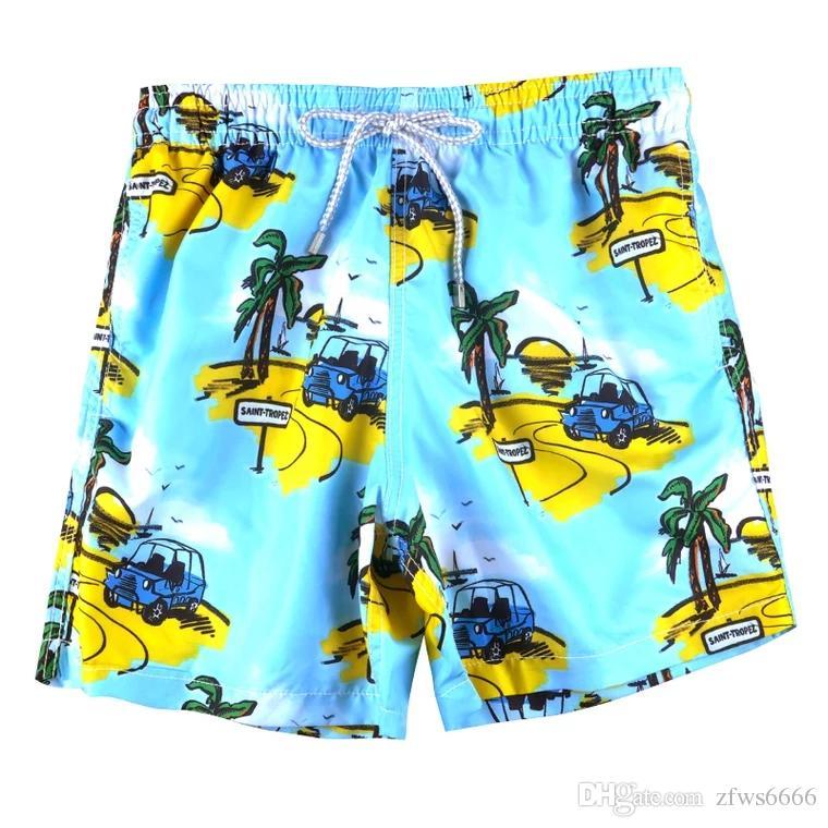 2019 nuovo Vilebrequin mens Pantaloncini da spiaggia 51 Vilebre marchio Costumi da bagno polpo stella marina Stampa tartaruga maschio Pantaloncini da bagno Asciugatura rapida