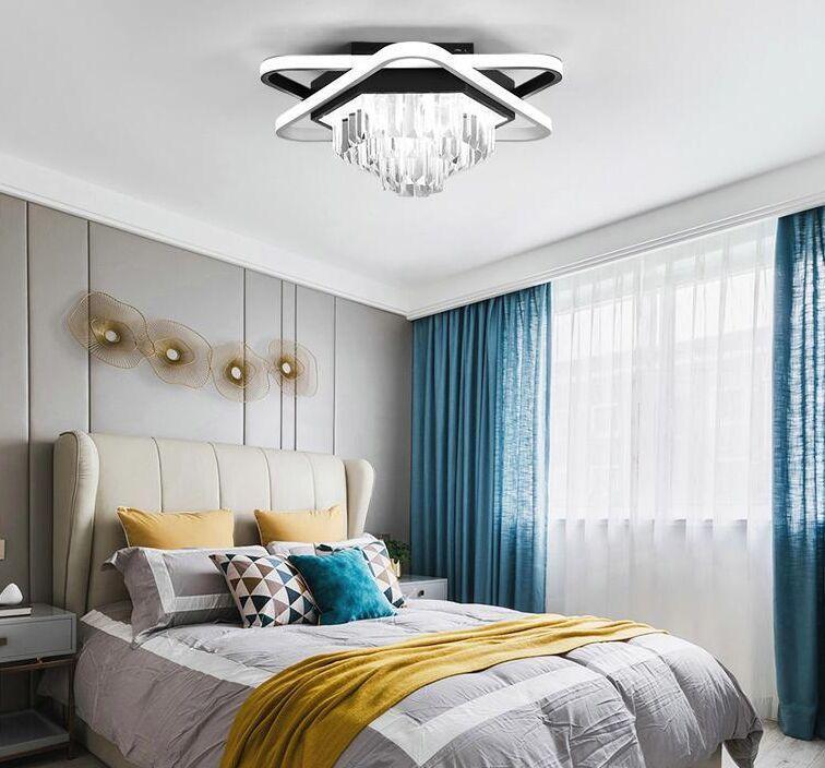 Llevada moderna lámpara de luz pendiente de arriba Diseño Living luces de techo Lámparas Para el hogar del dormitorio del hotel Lámparas de cristal decorativo