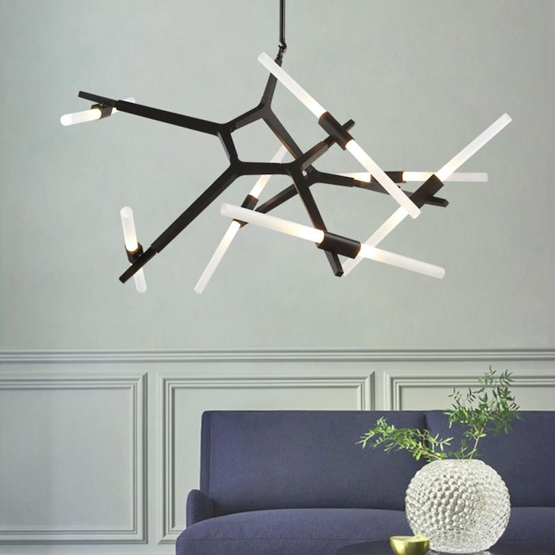 Postmodern Designer Nordic Led Chandelier Villa Tree Branch Lamp