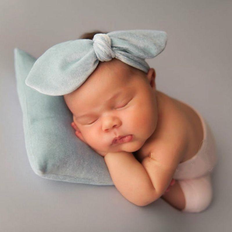 2PCS / SET الوليد التصوير الفوتوغرافي الدعامة الرضع العصابة + وسادة مجموعة ستوديو الصورة الملحقات تبادل لاطلاق النار
