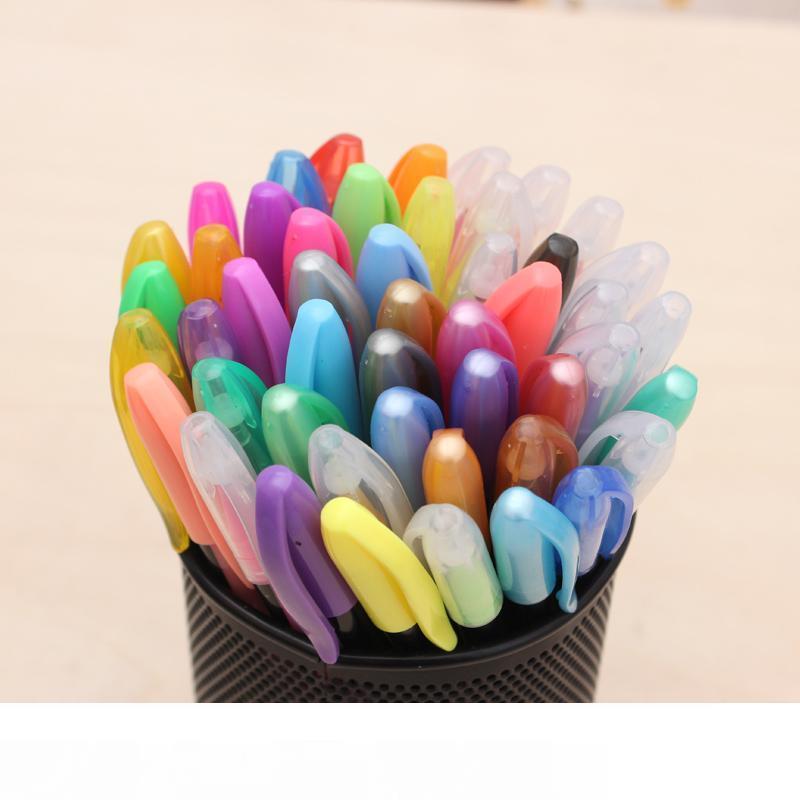 Нормальный Bianyo 48Color Highlight Art Marker Pen для офисных школьных маркеров, красочная шариковая ручка с подсветкой для детей Art Material Gel-Ink