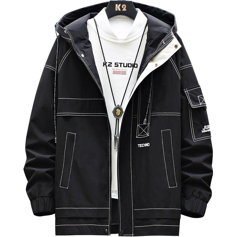 Мужские куртки и пальто весна и осень 2020 Одежда Повседневная Joker Мужская Инструментальное Функция Куртка с капюшоном Мужские пальто