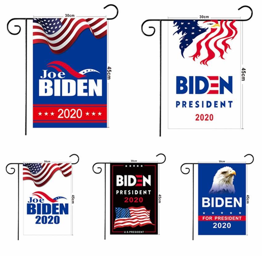 Biden Garden Flag 2020 American President Election Joe Biden Bernie Sanders Andrew Yang Donlad Trump Decor Banner No Rack HHA1291