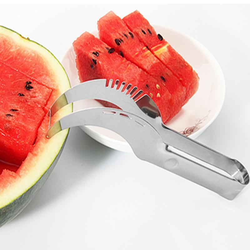 watermelon cut slicer Melon cutter knife fruit segmentation Watermelon Corer Cantaloupe Cutting Slicer Scoop Fruit Tools YYA51